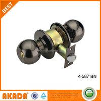 Cylindrical Entrance Knob Lock Brass Round Cylinder Lock Knob Lock