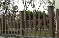 China wood plastic composite flower box and garden fence