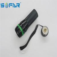 6010 1w zoom led flashlight output 50-100m led recharge torch