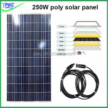 High efficiency 250W poly solar panel with high quality solar cells
