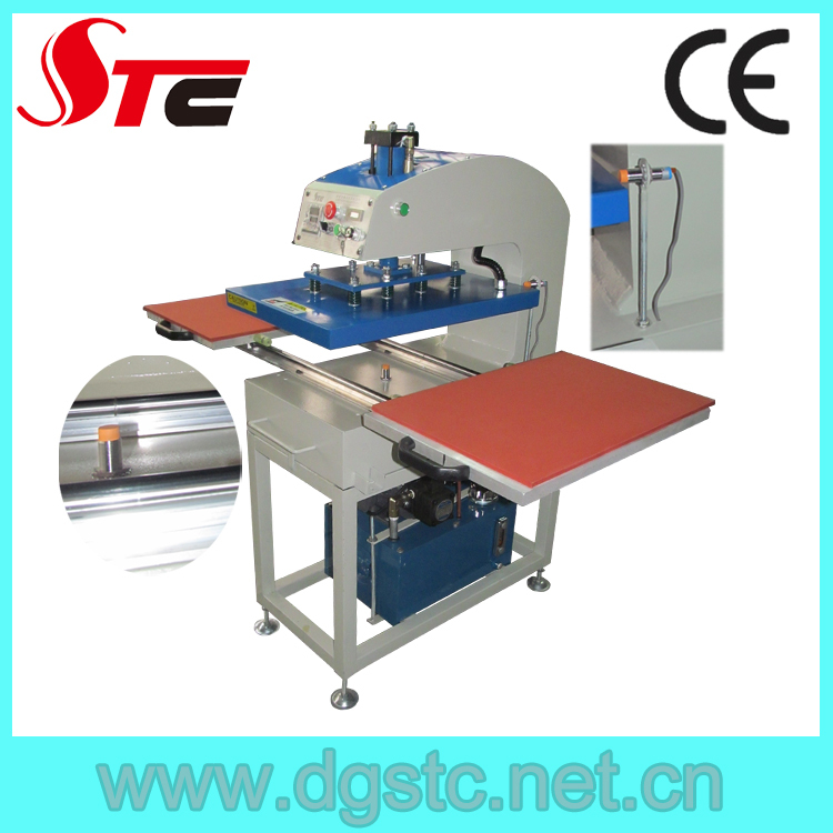Automatic pneumatic cheap used t shirt heat press machine for Cheapest t shirt printing machine