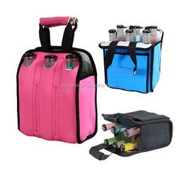 Six Pack Beer Bottle Cooler, Neoprene Well-insulated Bottle Holder, Picnic Bottle Pack