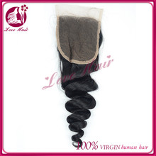 Excellent style lace closure loose wave human hair extensions aliexpress hair from qingdao factory sparkle black color closure