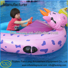 Exclusive Manufacturer Fwulong Inflatable Battery Operated Bumper Boat with Lovely Cartoon Tube