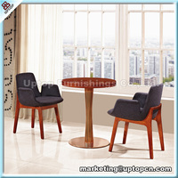 (SP-CT370) High end comfortable wooden hotel cafe tables and chairs