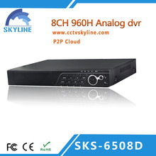 960H Full AHD CCTV DVR with 8ch dvr