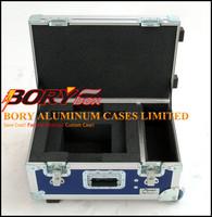 Protective aluminum small equipment coffin flight case with EVA cutting foam