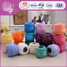 Colorful Egyptian cotton crochet thread