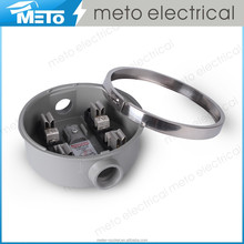 100A Die-Casting Aluminum Single Phase Electrical Round Meter Socket Meter Box