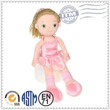 Promotional Logo Customized Soft Plush lovely baby toys fashion doll