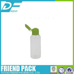 50ml travel kit set Clear Plastic PET Empty Bottles with Flip Cap,PET flip cap bottle for shampoo,cosmetics bottle