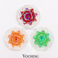 Wholesale 20PCS/Lot Vocheng 18mm Popper Jewelry 7 Colors Acrylic Ginger Snap Jewelry (Vn-699*20) Free Shipping