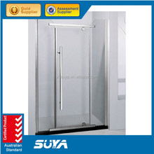 frameless shower screens and swing opening style