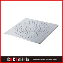 "20"" square mirror Surface 304 stainless steel LED shower head and connection pipe"