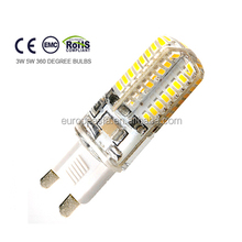 hot! high lumen g9 led 3w led g9 lamp g9 5w 96pcs3014 16*50mm ce rohs