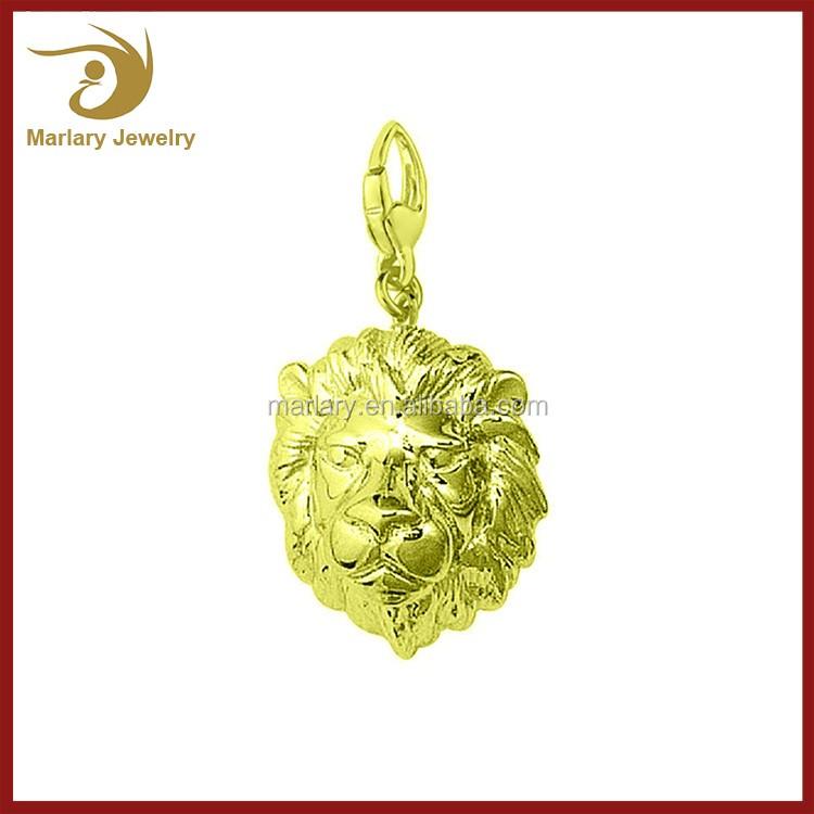 Feitos sob encomenda do logotipo gravado jóias Tag encanto da cabeça do leão de aço inoxidável encantos Atacado