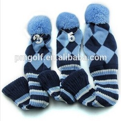 custom OEM knitted golf head cover for golf diver and fairway wood