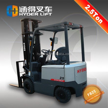 2.5 ton price of forklift electric operated with cabin