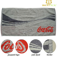Luxury Branded Promotional gift Jacquard logo Brand name towel
