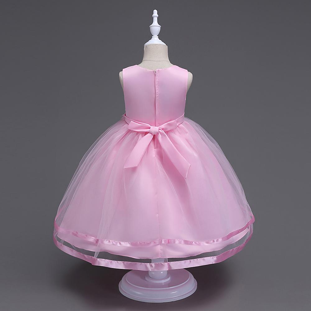 Europea de la flor chica vestido de cumpleaños de los niños vestido ...