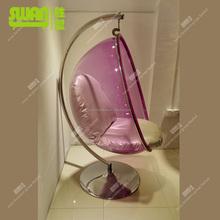 2229-1 scandinavian furniture pink acrylic chair
