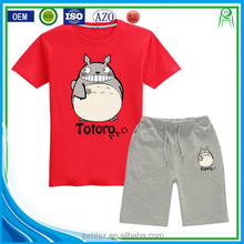 China manufacture wholesale 100 combed cotton custom printing childrens clothing