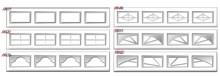 12 tipos diferentes de ventanas de PVC para puerta de garaje seccional