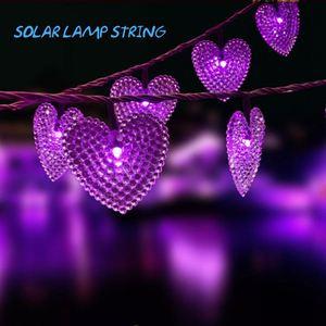 Jardim ao ar livre mini movido a energia solar levou luz da corda da lanterna de papel