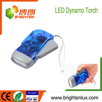 Hot Sale On/off Function Button Cell battery Used led hand charge torch light
