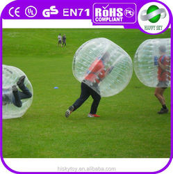 2015 crazing game PVC or TPU Dia 1.2m/1.5m/1.7m giant inflatable clear ball, human inflatable bumper bubble , bumper ball soccer