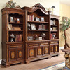Luxury American style big size solid wood hand carved bookcase