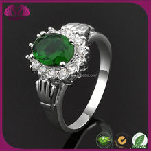 Ring Jewelry Green Stone 925 Sterling Silver Aquamarine Ring
