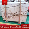 China natural stone hot sales golden dragon yellow marble slab