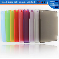 Wholesale smart case cover for ipad mini with pu+pc material