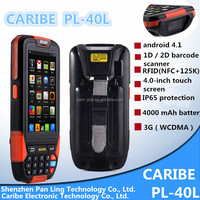 CARIBE PL-40L AU138 Factory price RFID smartphone 4 inch support WIFI, 3G, Bluetooth, GPS, NFC reader