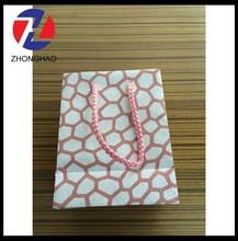 2015 New Arrived fancy design craft unique decorative glitter rope handle paper gift bag