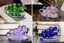 K9 transparente cristal cluster uva para a decoração