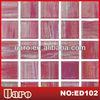 Hand paint pink glass mosaic for interior floor