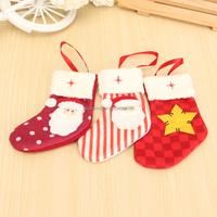 Xmas Tree Hanging Bags Christmas Stockings Snowflake Candy Storage Santa Claus Ornaments Home Decoration