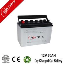 JIS Lead acid 12V 70AH dry charged car battery high quality