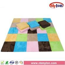 Mylon Blue Shaggy Memory EVA Foam Mat/Kids Puzzle Mat
