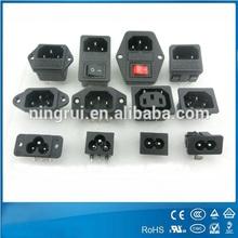 250v 3 контакта шнур входе электрическая розетка