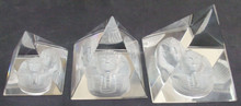Pharaoh Figurine 3D Sculpture Egyptian Pyramids Set Handmade Paperweight MH-PY031