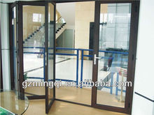 Aluminum folding office door design