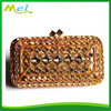 korean latest fashion women clutch bags with stones