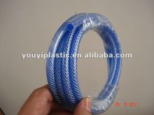 Power transparent PVC knitted raying hose