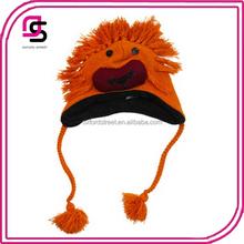 character orange crochet monster free Knitted Animal Hat