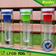 Tritan/PE/LID AS material fruit infuser water bottle