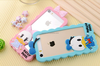 3D Cartoon Duck Couples Silicone Frame Case For iPhone 4 4S 5 5S