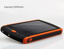12v/16v/19v laptop solar cell phone charger 30000